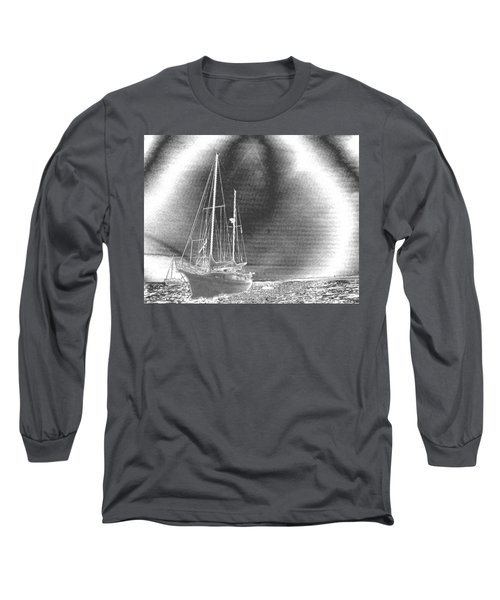 Chromed Sailboats In Key Largo Long Sleeve T-Shirt