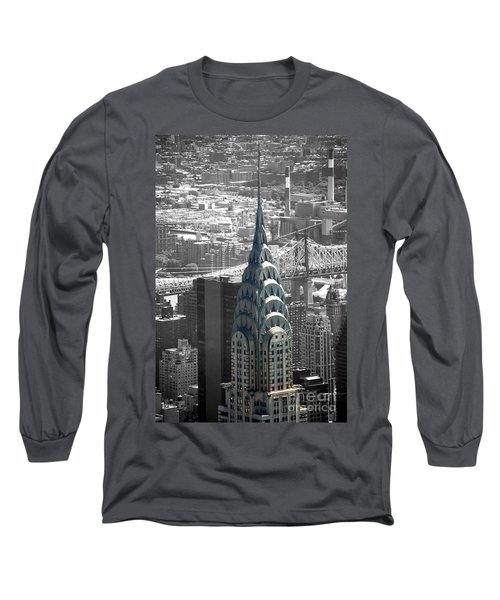 Long Sleeve T-Shirt featuring the photograph Chrysler Building by Angela DeFrias
