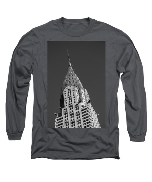 Chrysler Building Bw Long Sleeve T-Shirt by Susan Candelario