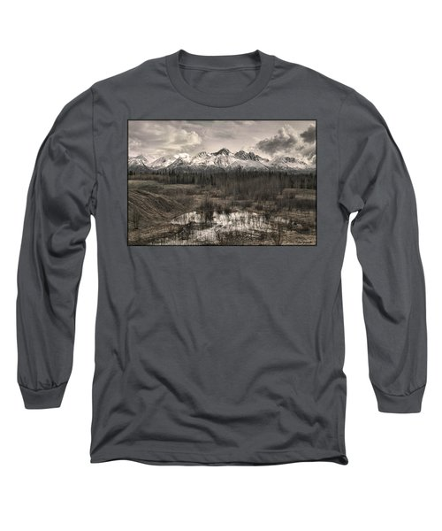 Chugach Mountain Range Long Sleeve T-Shirt