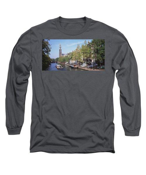 Church Along A Channel In Amsterdam Long Sleeve T-Shirt
