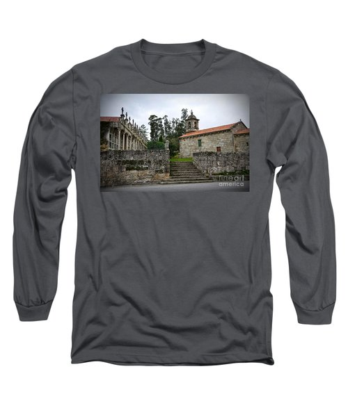 Church And Cemetery In A Small Village In Galicia Long Sleeve T-Shirt