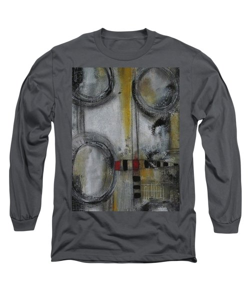 Long Sleeve T-Shirt featuring the painting Circles Of Life by Nicole Nadeau