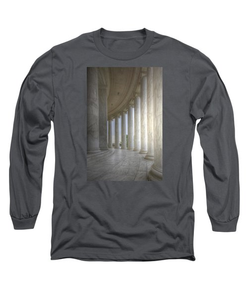 Circular Colonnade Of The Thomas Jefferson Memorial Long Sleeve T-Shirt by Shelley Neff