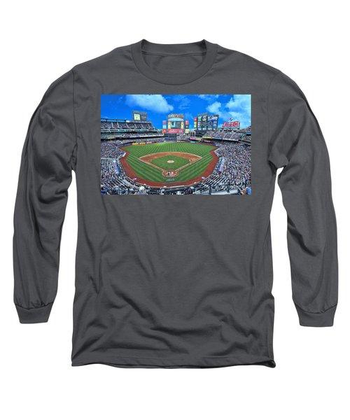 Citi Field Long Sleeve T-Shirt by Allen Beatty