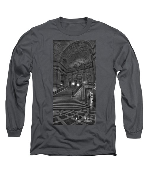 City Hall Grand Stairs Long Sleeve T-Shirt