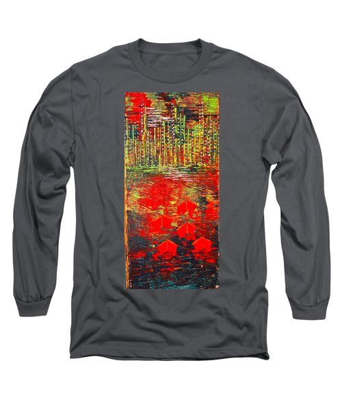 City Lights - Sold Long Sleeve T-Shirt by George Riney