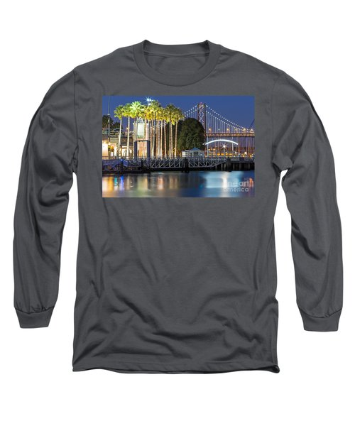 Long Sleeve T-Shirt featuring the photograph City Lights On Mission Bay by Kate Brown