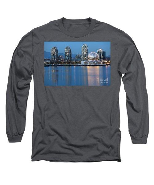City Skyline -vancouver B.c. Long Sleeve T-Shirt