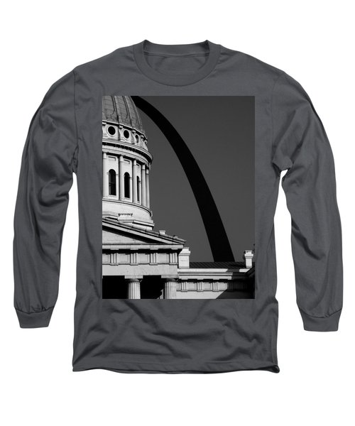 Classical Dome Arch Silhouette Black White Long Sleeve T-Shirt