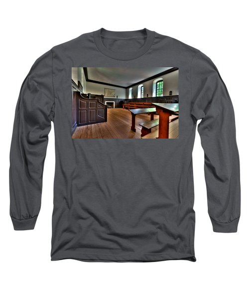 Long Sleeve T-Shirt featuring the photograph Classroom Wren Building by Jerry Gammon