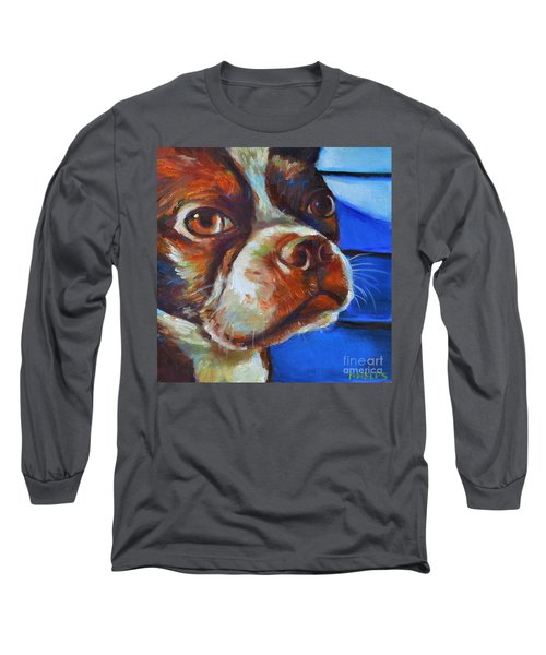 Long Sleeve T-Shirt featuring the painting Classy Hank by Robert Phelps