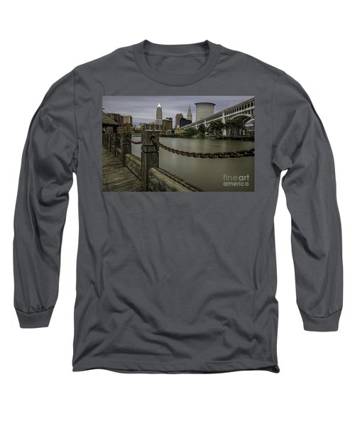 Cleveland Ohio Long Sleeve T-Shirt by James Dean