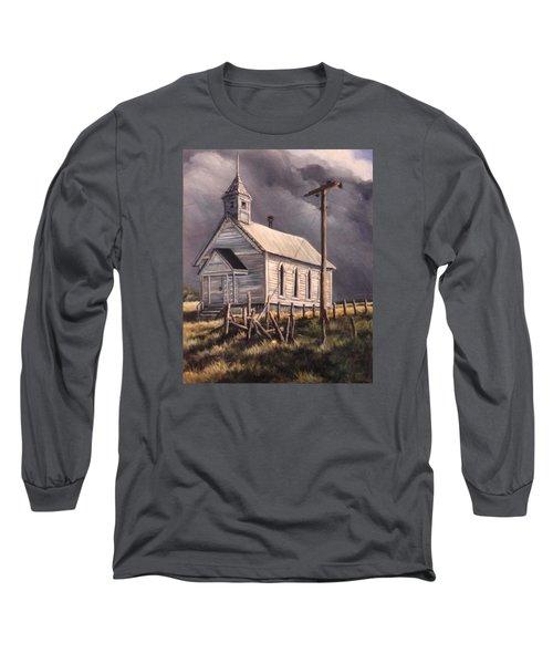 Closed On Sundays Long Sleeve T-Shirt by Donna Tucker