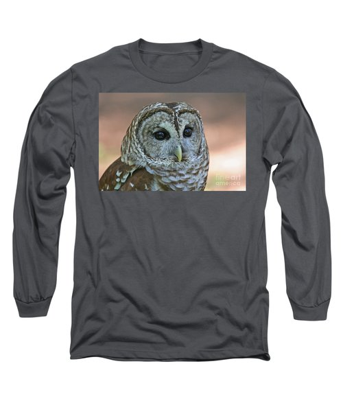 Closeup Of A Barred Owl  Long Sleeve T-Shirt