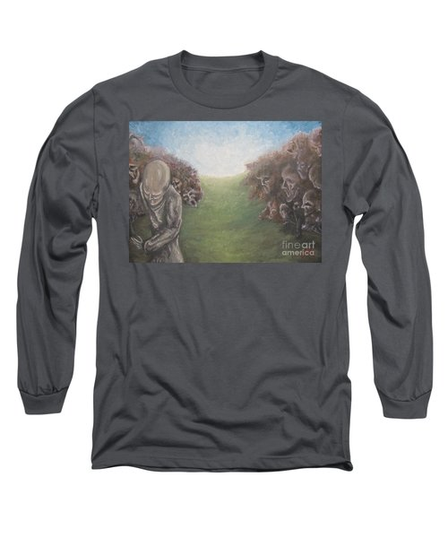 Long Sleeve T-Shirt featuring the painting Closure by Michael  TMAD Finney