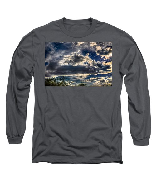 Long Sleeve T-Shirt featuring the photograph Cloud Drama by Mark Myhaver