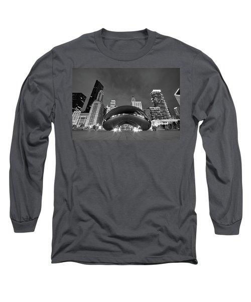 Cloud Gate And Skyline Long Sleeve T-Shirt by Adam Romanowicz