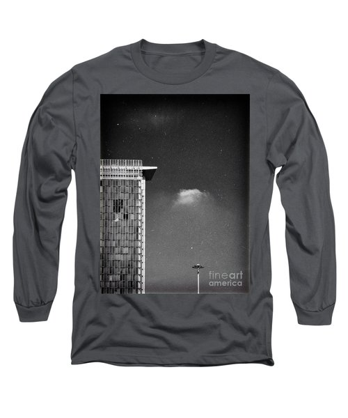 Long Sleeve T-Shirt featuring the photograph Cloud Lamp Building by Silvia Ganora