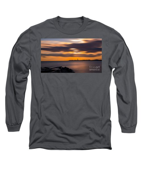 Clouds In Motion At Cape May  Long Sleeve T-Shirt