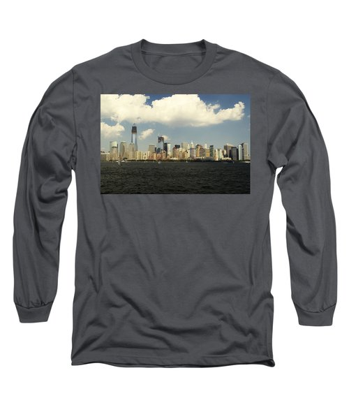 Clouds Over New York Skyline Long Sleeve T-Shirt