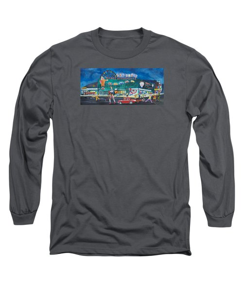 Long Sleeve T-Shirt featuring the painting Clown Parade At The Palace by Patricia Arroyo
