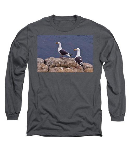 Coastal Seagulls Long Sleeve T-Shirt by Melinda Ledsome