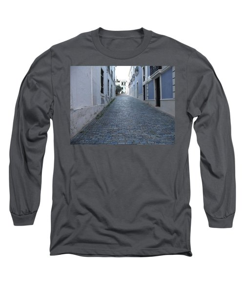 Long Sleeve T-Shirt featuring the photograph Cobble Street by David S Reynolds