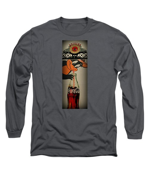 Coca Cola Orioles Sign Long Sleeve T-Shirt by Stephen Stookey