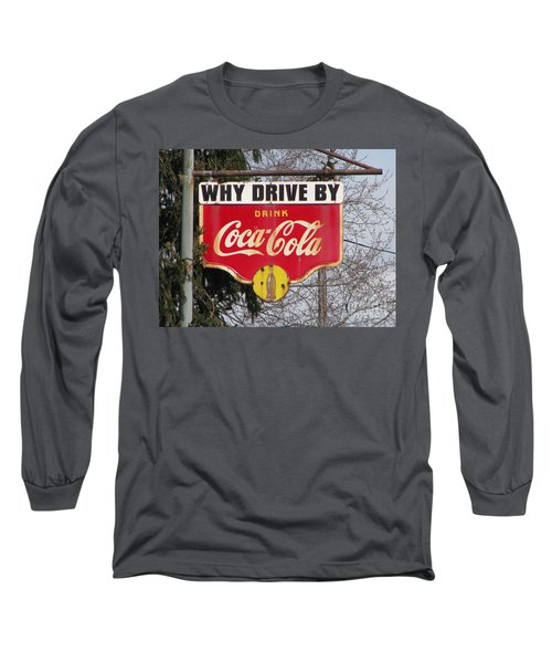 Coca-cola Sign Long Sleeve T-Shirt by Michael Krek