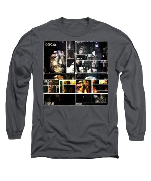 Long Sleeve T-Shirt featuring the photograph Coca In Part 5 Collage  by Sir Josef - Social Critic - ART