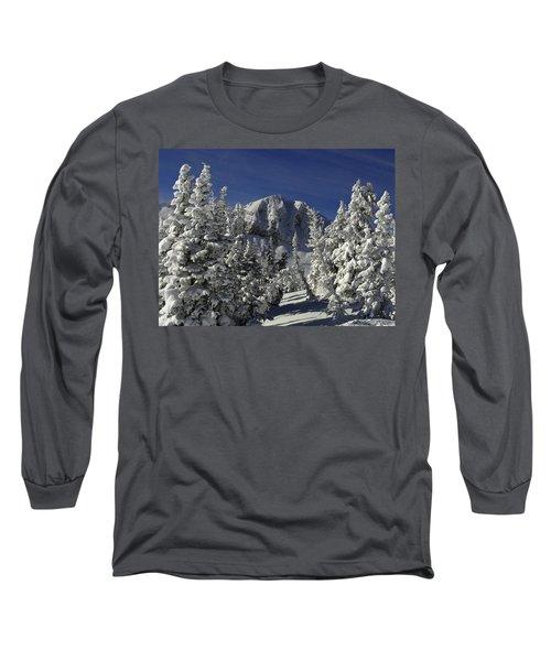 Cody Peak After A Snow Long Sleeve T-Shirt by Raymond Salani III