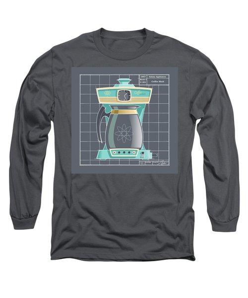 Coffeemaid -aqua Long Sleeve T-Shirt