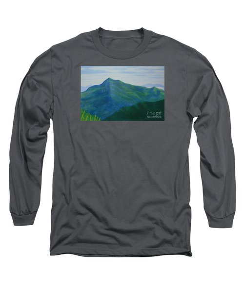 Long Sleeve T-Shirt featuring the painting Cold Mountain by Stacy C Bottoms