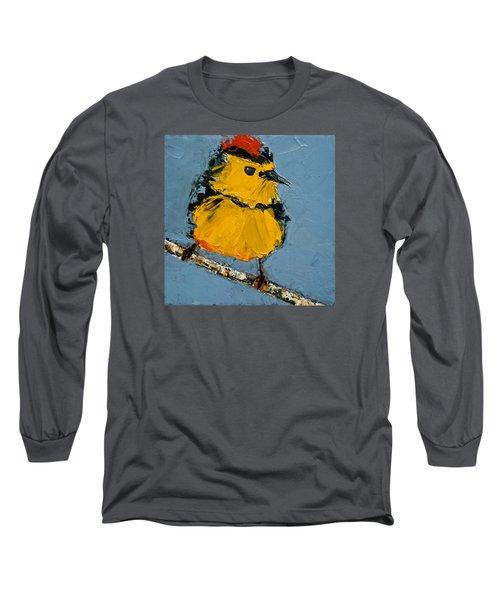 Collard Redstart Long Sleeve T-Shirt by Jani Freimann