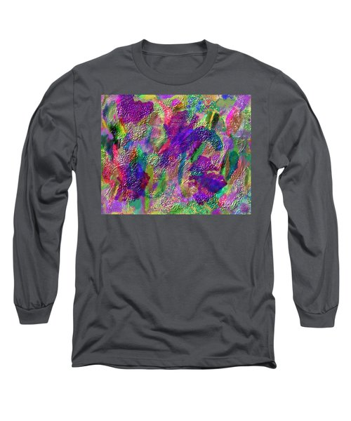 Long Sleeve T-Shirt featuring the mixed media Color Dream Play by Penny Lisowski