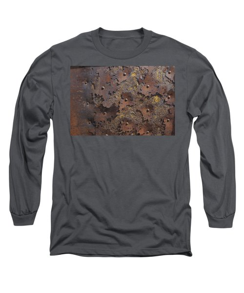 Color Of Steel 2 Long Sleeve T-Shirt by Fran Riley
