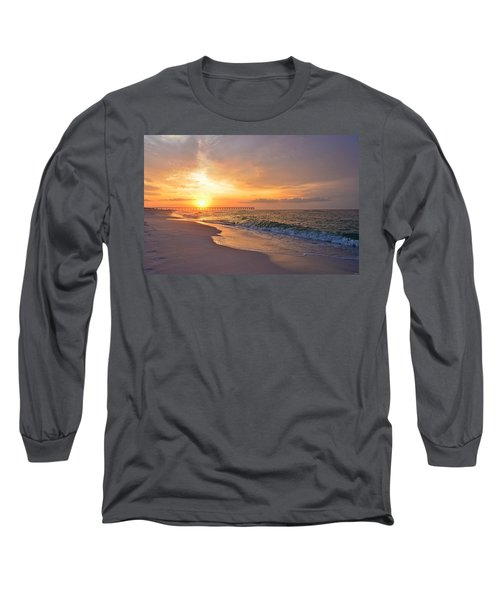Color Palette Of God On The Beach Long Sleeve T-Shirt by Jeff at JSJ Photography