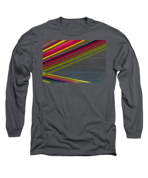 Long Sleeve T-Shirt featuring the photograph Color Strips by Stuart Litoff