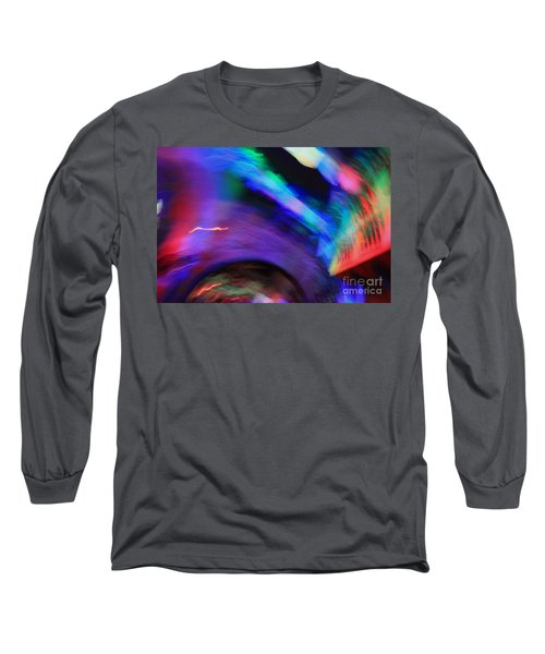 Long Sleeve T-Shirt featuring the pyrography Color Tunnel  by Chris Thomas