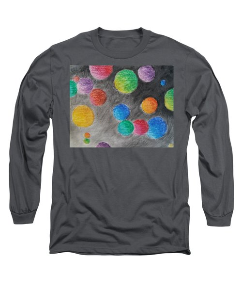 Colorful Orbs Long Sleeve T-Shirt by Thomasina Durkay