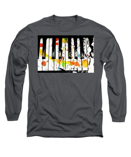 Colorful Sound Long Sleeve T-Shirt by Aaron Berg