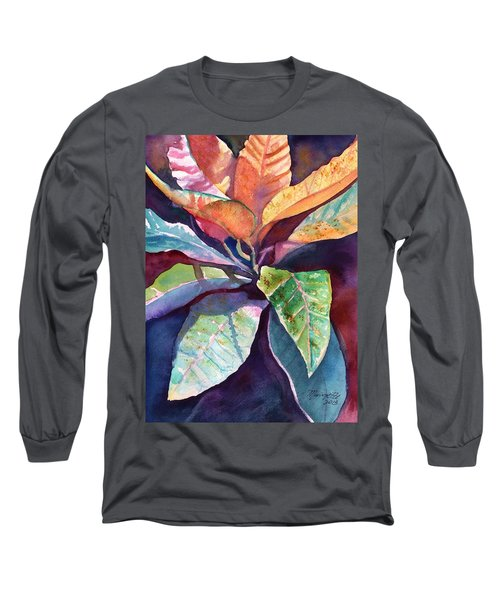 Colorful Tropical Leaves 3 Long Sleeve T-Shirt