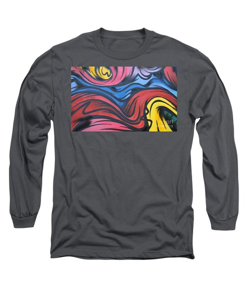 Long Sleeve T-Shirt featuring the photograph Colorful Urban Street Art From Singapore by Imran Ahmed