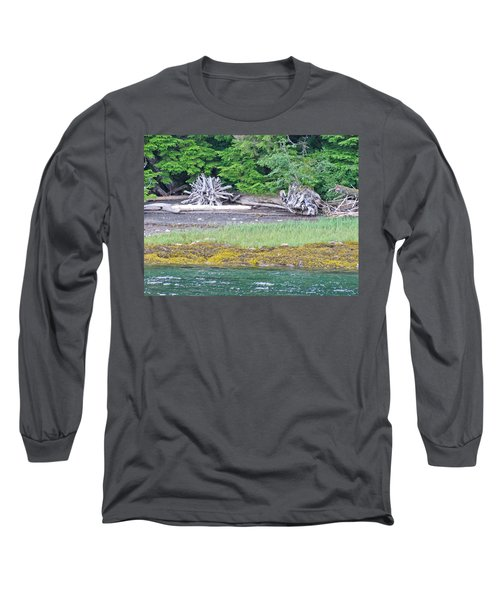 Colors Of Alaska - Layers Of Greens Long Sleeve T-Shirt