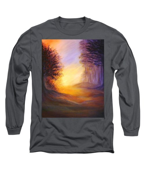 Long Sleeve T-Shirt featuring the painting Colors Of The Morning Light by Lilia D