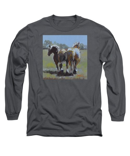 Come Back Max And Major Long Sleeve T-Shirt by Pattie Wall