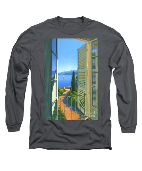 Como View Long Sleeve T-Shirt by Michael Swanson