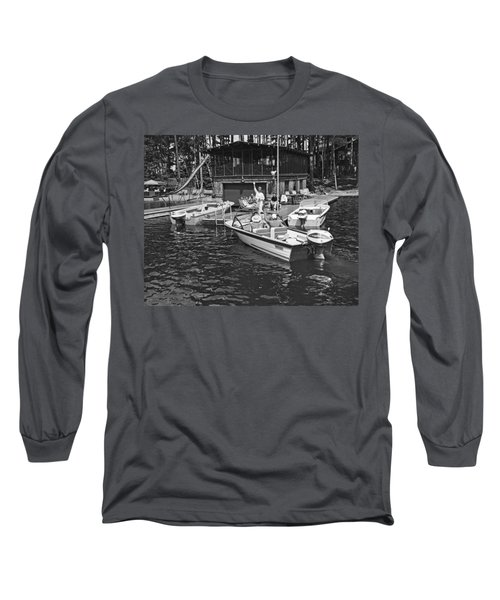 Company Arrives At The Cabin By Boat Long Sleeve T-Shirt