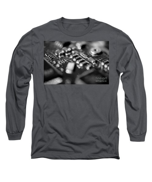 Computer Board Black And White Long Sleeve T-Shirt